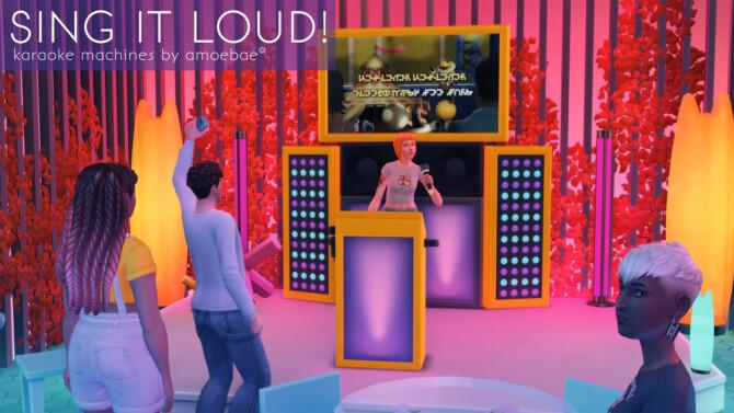 Sims 4 SING IT LOUD! karaoke machines at Picture Amoebae