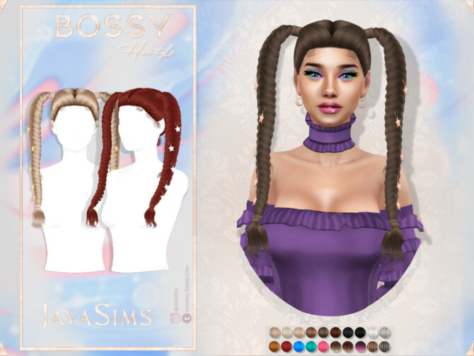 Sims 4 Bossy Hairstyle by JavaSims at TSR