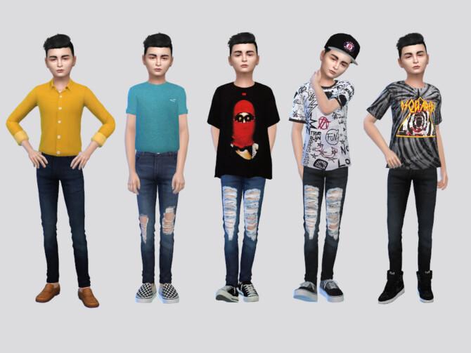 Sims 4 Solitude Denim Jeans Boys by McLayneSims at TSR