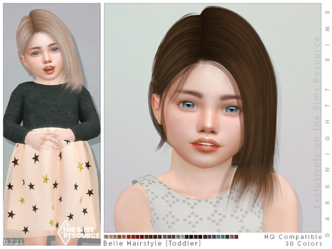 Sims 4 Belle Hairstyle [Toddler] by DarkNighTt at TSR