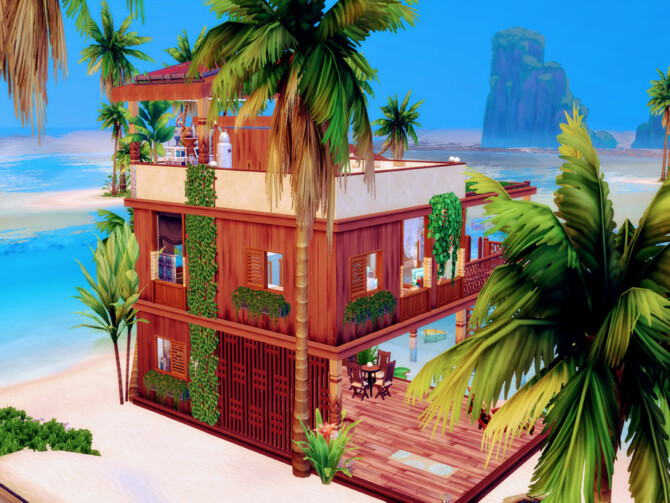 Sims 4 Stilt Cabin by LJaneP6 at TSR