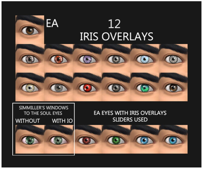 Sims 4 12 Iris Overlays Face Paint by Simmiller at Mod The Sims 4