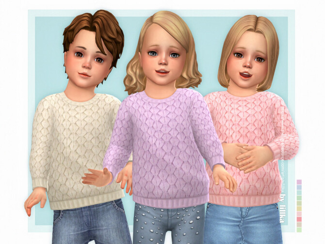 Sims 4 Cozy Sweater for Toddler by lillka at TSR