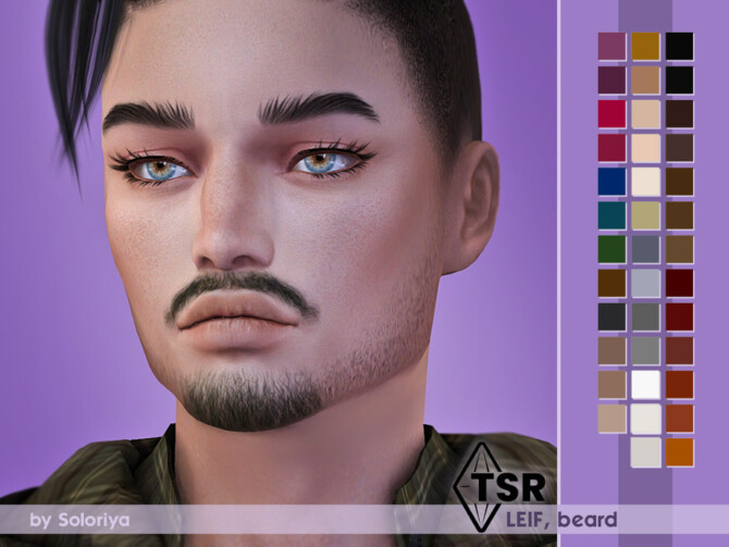 Sims 4 Beard Leif by soloriya at TSR