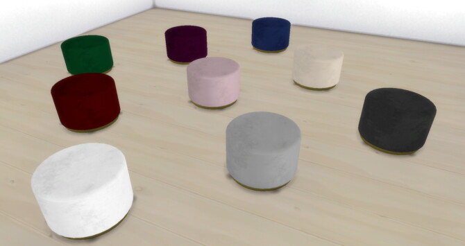 Sims 4 Pouffe Adore by nmatyi03 at Mod The Sims 4