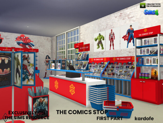 Sims 4 The Comics Stop 1 Set by kardofe at TSR