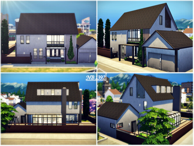 Sims 4 Positivum house by nobody1392 at TSR