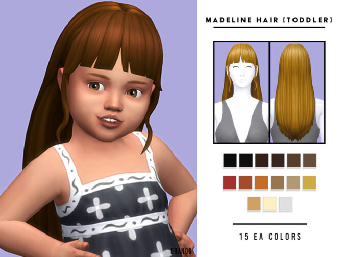 Sims 4 Madeline Hair [Toddler] by OranosTR at TSR