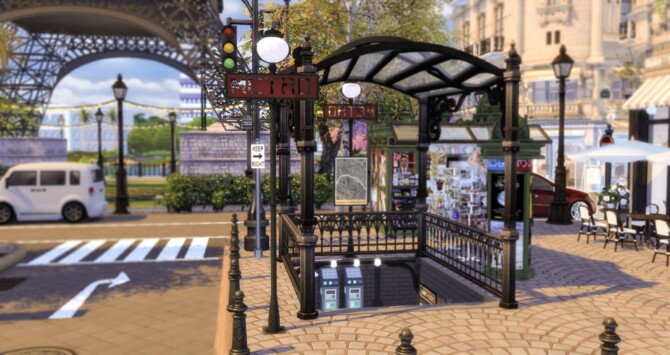 Sims 4 Paris City Build at Ruby Red