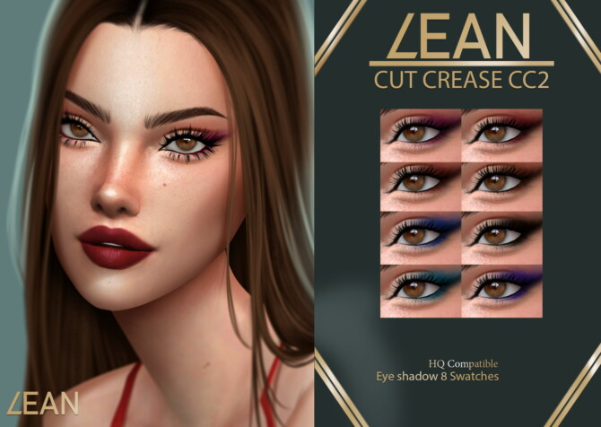 Sims 4 CUT CREASE CC 2 eyeshadow at LEAN