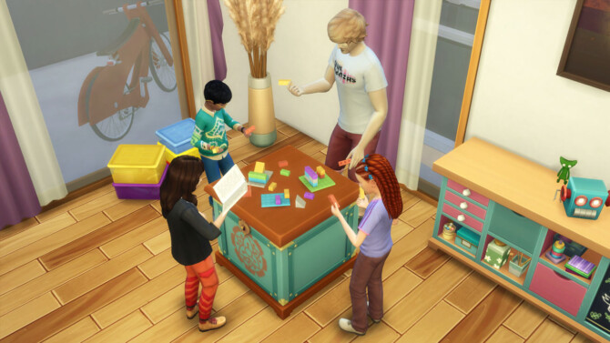 Sims 4 Buildems Blocks on Any Table by K9DB at Mod The Sims 4