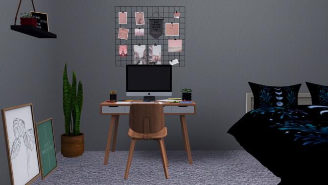 Sims 4 Yvee Study Set at Sunkissedlilacs
