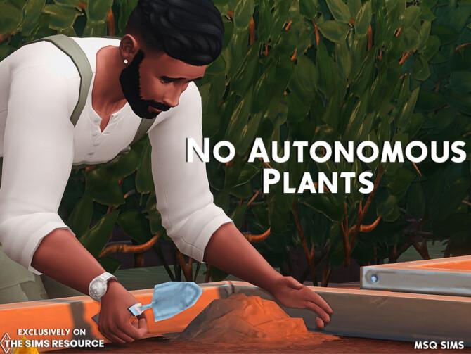 Sims 4 No Autonomous Plants by MSQ SIMS at TSR