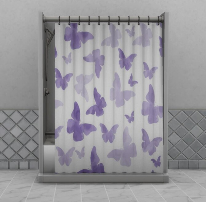 Sims 4 Butterfly Curtain Parenthood Shower by ApplepiSimmer at Mod The Sims 4
