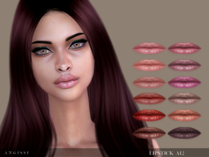 Sims 4 Lipstick A12 by ANGISSI at TSR