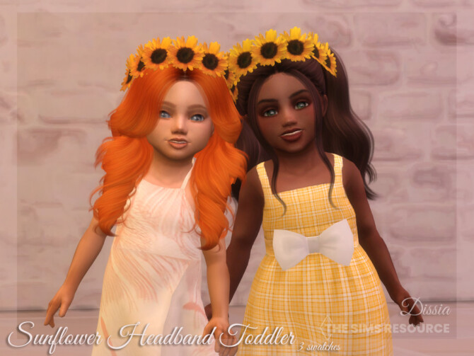 Sims 4 Sunflower Headband Toddler by Dissia at TSR
