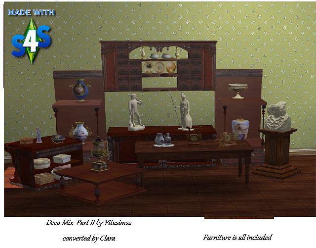Sims 4 Deco mix set by Clara at All 4 Sims