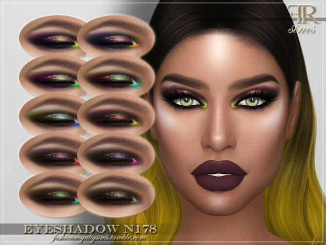 Sims 4 FRS Eyeshadow N178 by FashionRoyaltySims at TSR