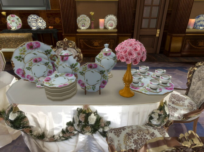 Sims 4 Porcelain Room in The Hallwyl Museum at Anna Quinn Stories