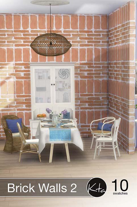 Sims 4 Brick Walls 2 at Ktasims