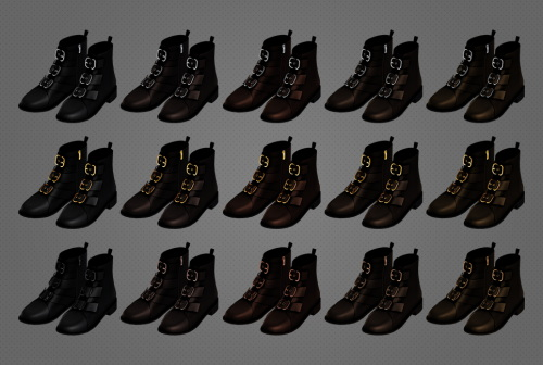 Sims 4 Olive Boots at MMSIMS