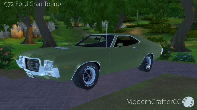 Sims 4 1972 Ford Gran Torino at Modern Crafter CC