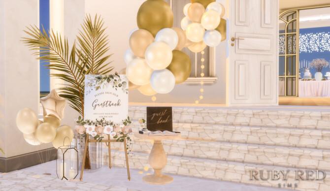 Sims 4 Beach Wedding Venue + New CC Set at Ruby Red