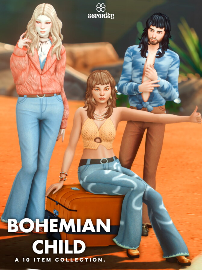 Sims 4 Bohemian Child Collection 10 items at SERENITY