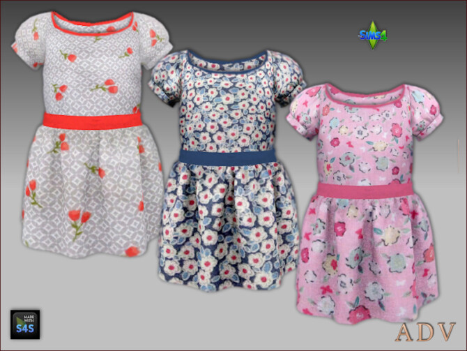 Sims 4 Dresses, hats and shoes for toddler girls at Arte Della Vita