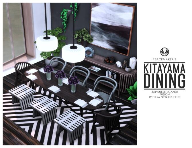 Sims 4 Kitayama Dining Japanese Scandi Fusion at Simsational Designs