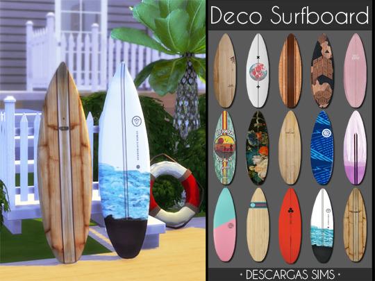 Sims 4 Deco Surfboard at Descargas Sims