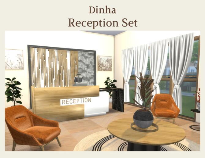 Sims 4 Reception Set at Dinha Gamer