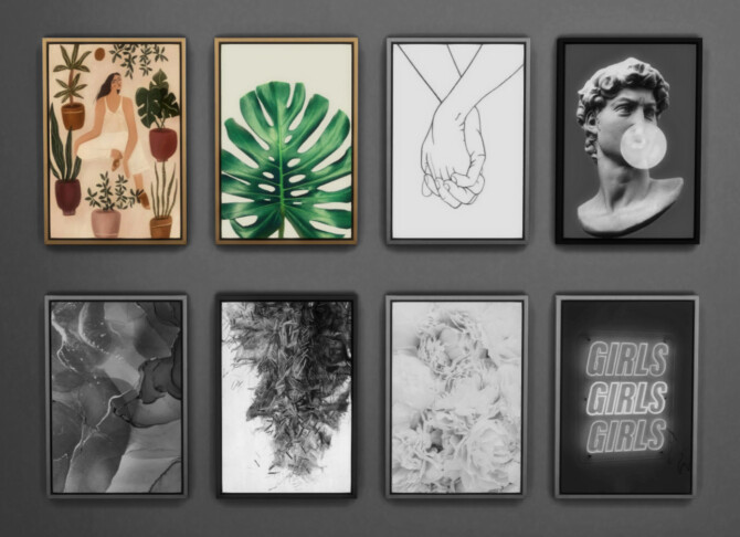 Sims 4 Framed Prints Collection Part 01 Boho&Tropical at Sooky