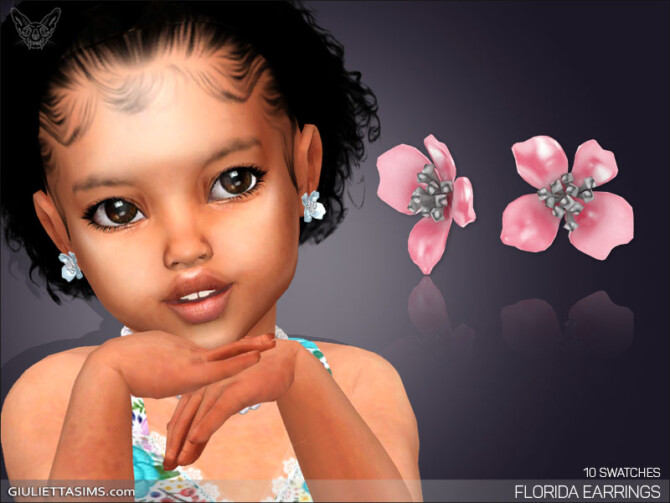 Sims 4 Florida Earrings For Toddlers at Giulietta