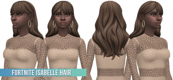Sims 4 Fortnite Isabelle Hair Conversion/Edit at Busted Pixels