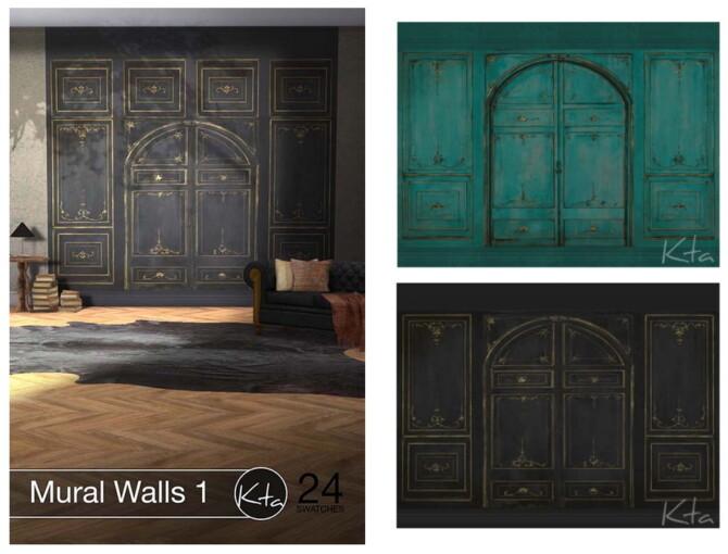 Sims 4 Mural Walls 1 at Ktasims