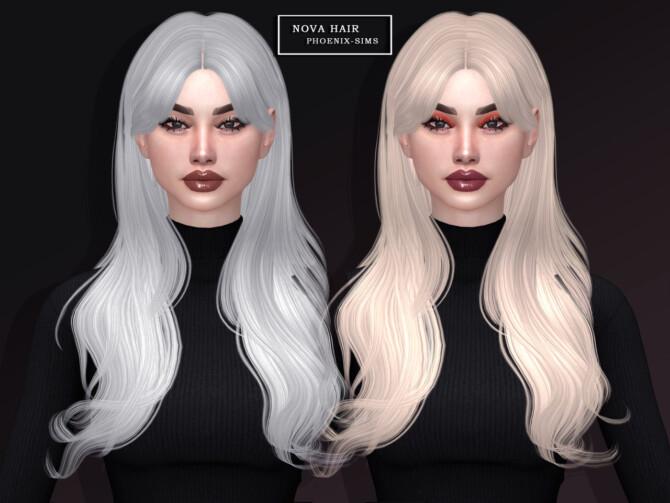 Sims 4 Nova & Anastasia Hairs at Phoenix Sims