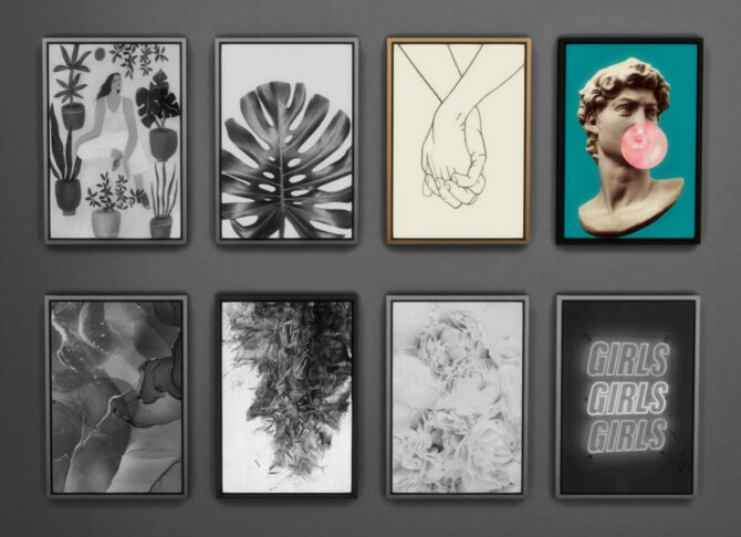 Sims 4 Framed Prints Collection Part 02  Lineart & Art at Sooky