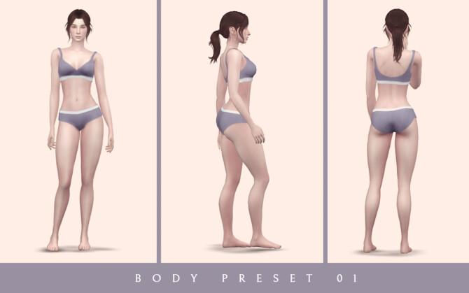 Sims 4 Body Preset 01 at Lutessa