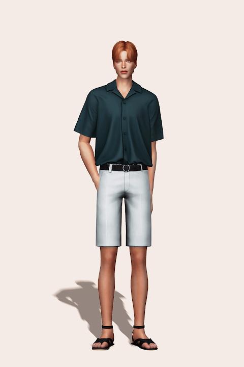 Sims 4 Short Sleeve Pajama Shirt at Gorilla