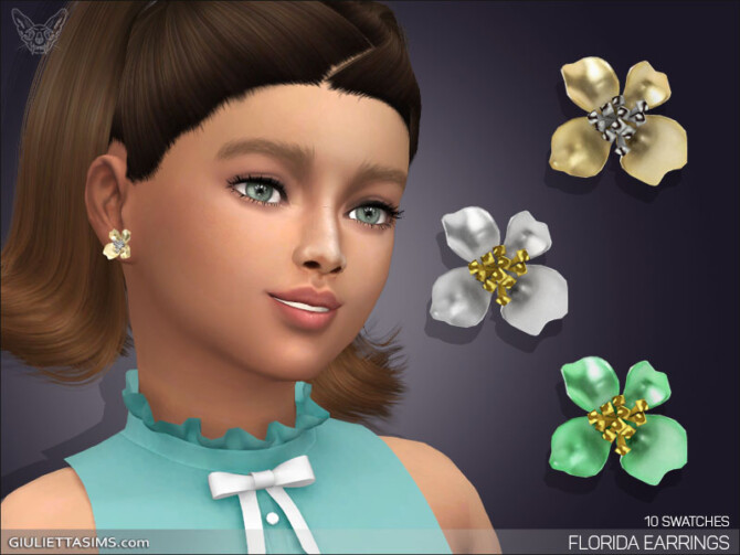 Sims 4 Florida Earrings For Kids at Giulietta