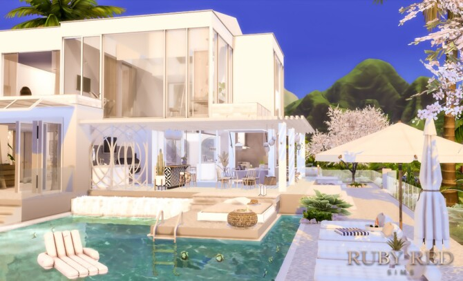 Sims 4 Modern Boho 7 house at Ruby Red