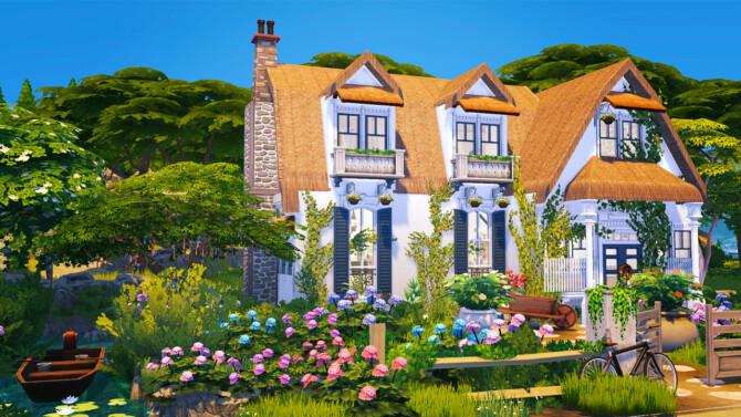 Sims 4 Hydrangea House   Cottage Living inspired at Akai Sims – kaibellvert