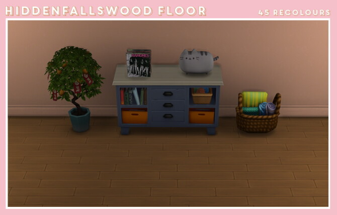 Sims 4 Wood floor recolours at Midnightskysims