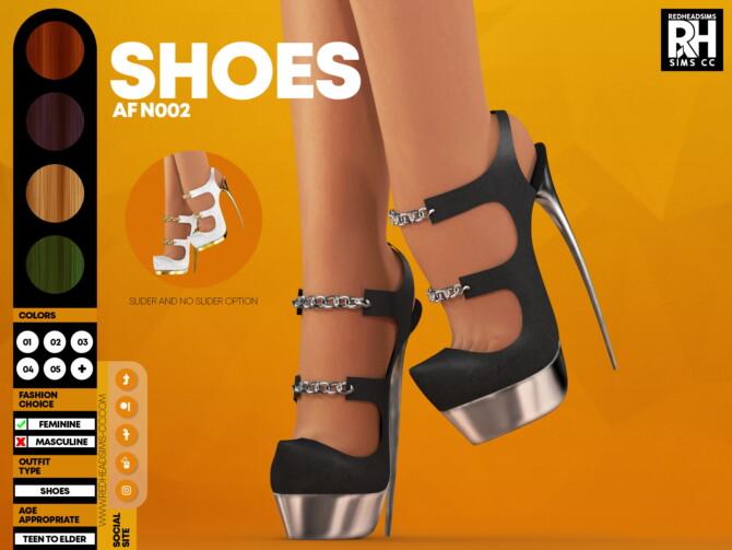 Sims 4 Chain High Heels AF N002 at REDHEADSIMS