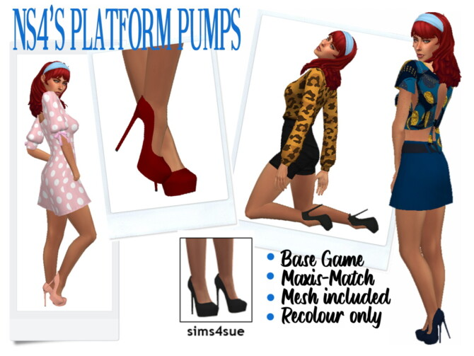 Sims 4 NS4′s PLATFORM PUMPS at Sims4Sue