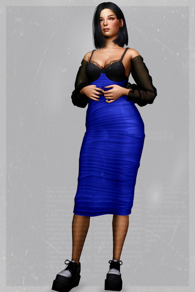Sims 4 Bloodline Dress at EvellSims