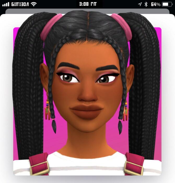 Sims 4 Kabibe hair at Marso Sims