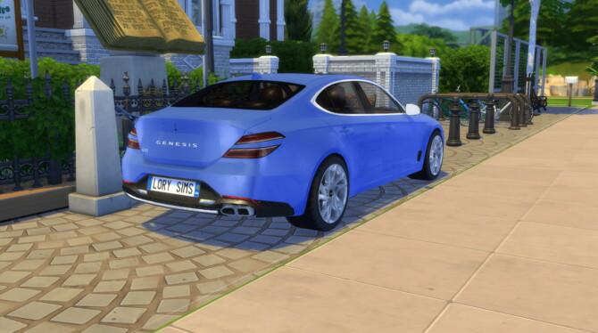 Sims 4 2022 Genesis G70 at LorySims