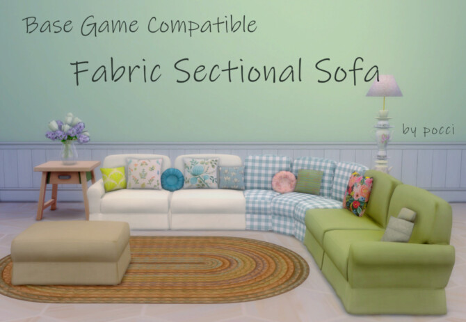 Sims 4 BGC Fabric Sectional Sofa by pocci at Garden Breeze Sims 4